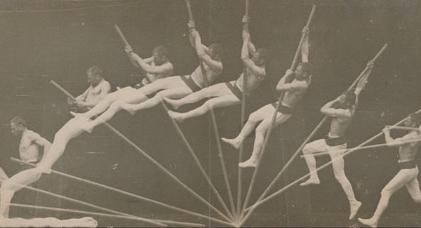 Lg  tienne jules marey   movements in pole vaulting   google art project